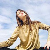 """Одежда ручной работы. Ярмарка Мастеров - ручная работа Золотая блузка """"Miaplacidus"""". Handmade."""
