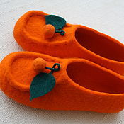 Обувь ручной работы. Ярмарка Мастеров - ручная работа тапочки валяные АПЕЛЬСИНЫ. Handmade.