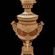 Подарки к праздникам handmade. Livemaster - original item Samovar made of birch bark gift. Birch bark samovar. Expensive souvenir. Handmade.