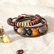 Украшения handmade. Livemaster - original item A set of bracelets from natural stones