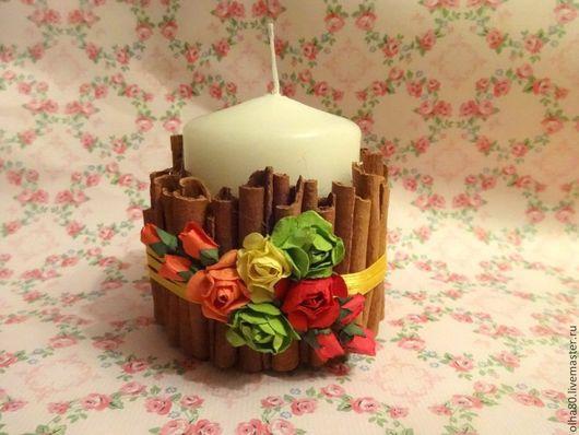 Свечи ручной работы. Ярмарка Мастеров - ручная работа. Купить Свеча интерьерная. Handmade. Разноцветный, свеча, подарок, декор для интерьера