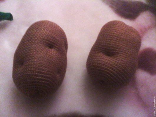 Еда ручной работы. Ярмарка Мастеров - ручная работа. Купить Картофель. Handmade. Развивающая игрушка, еда для кукол, Вязание крючком