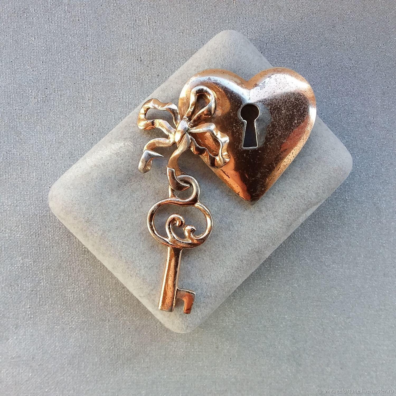 Nettie Rosenstein sterling Silver brooch (fur clip) 1940s, Vintage brooches, St. Petersburg,  Фото №1