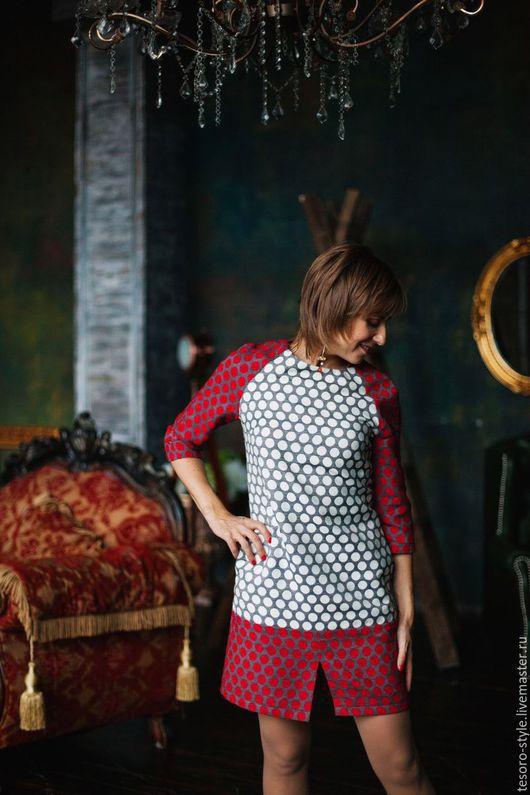 Платья ручной работы. Ярмарка Мастеров - ручная работа. Купить Озорной Горох (платье). Handmade. Серый, платье на каждый день