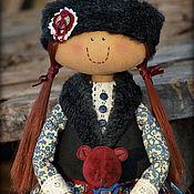 Куклы и игрушки ручной работы. Ярмарка Мастеров - ручная работа Девочка с медвежонком. Handmade.