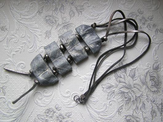 """Кулоны, подвески ручной работы. Ярмарка Мастеров - ручная работа. Купить Кулон-подвеска из полимерной глины """"Гранитный Лист"""". Handmade."""