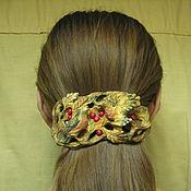 Заколки ручной работы. Ярмарка Мастеров - ручная работа Заколка для волос деревянная  резная  Птицы и ягоды. Handmade.