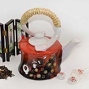 Посуда ручной работы. Ярмарка Мастеров - ручная работа Чайник керамический. Handmade.