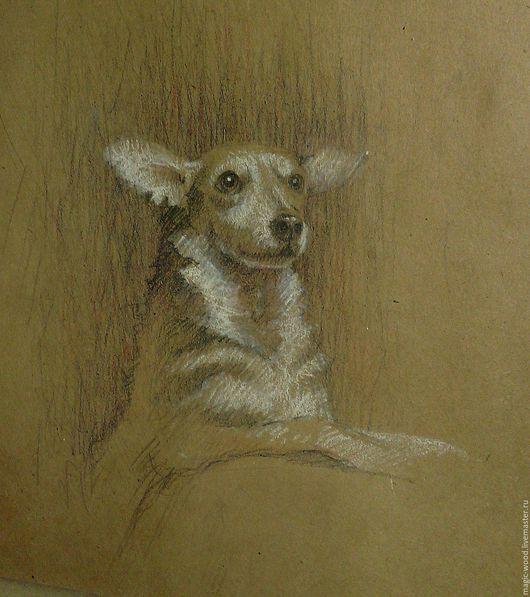 Животные ручной работы. Ярмарка Мастеров - ручная работа. Купить Пёс. Handmade. Коричневый, крафт, рисунок, собака, подарок, животные