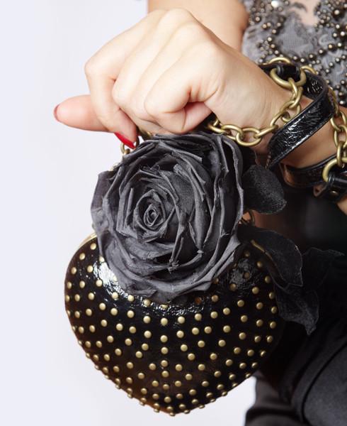 Броши ручной работы. Ярмарка Мастеров - ручная работа. Купить Роза брошь. Handmade. Темно-серый, шелк натуральный, цветок