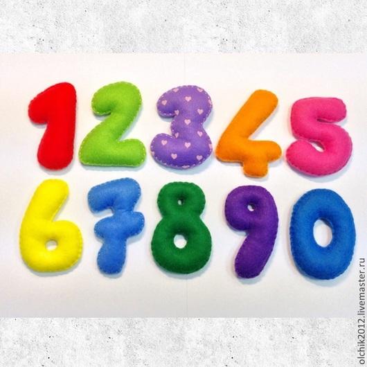 Развивающие игрушки ручной работы. Ярмарка Мастеров - ручная работа. Купить Набор цифр из фетра. Handmade. Фетр, развивайка