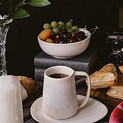 Посуда handmade. Livemaster - original item Mugs and cups: 400 ml mug and saucer. Handmade.