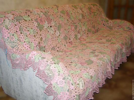Текстиль, ковры ручной работы. Ярмарка Мастеров - ручная работа. Купить Покрывало вязанное. Handmade. Комбинированный