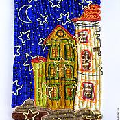 """Для дома и интерьера ручной работы. Ярмарка Мастеров - ручная работа панно """"Когда опускается ночь.."""". Handmade."""