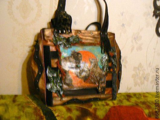 Женские сумки ручной работы. Ярмарка Мастеров - ручная работа. Купить сумка из натуральной кожи Юлиана 2. Handmade. Рыжий