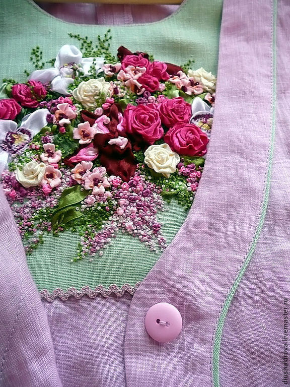 Объемная ручная вышивка