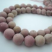 Материалы для творчества handmade. Livemaster - original item Rhodonite smooth matte beads balls, 10mm and 12mm. Handmade.
