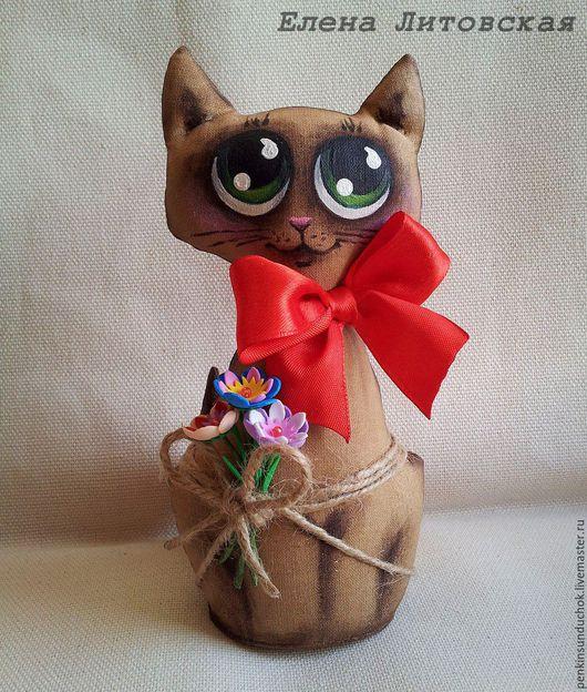 Ароматизированные куклы ручной работы. Ярмарка Мастеров - ручная работа. Купить Зеленоглазое чудо. Handmade. Чердачная игрушка, коричневый