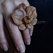 Украшения ручной работы. Ярмарка Мастеров - ручная работа Кольцо деревянное Орхидея. Handmade.
