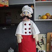 Куклы и игрушки ручной работы. Ярмарка Мастеров - ручная работа Шеф-повар (пакетница). Handmade.
