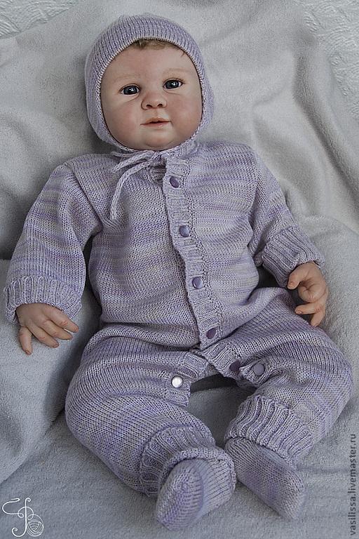фото вязаные костюмы для новорожденных