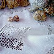 Для дома и интерьера handmade. Livemaster - original item Tissue paper Sea foam. len. hand embroidery. Openwork, retro. Handmade.