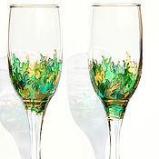 """Посуда ручной работы. Ярмарка Мастеров - ручная работа Бокалы """"Золото Шервудского леса"""" (2 бокала). Handmade."""