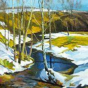 Картины и панно handmade. Livemaster - original item Oil painting landscape _ Came Vesna handmade. Handmade.