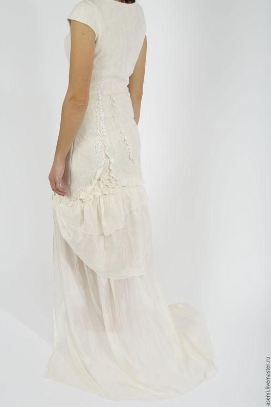 """Платья ручной работы. Ярмарка Мастеров - ручная работа. Купить Платье  """"Танцующий лебедь"""". Handmade. Белый, шелковое платье, шёлк"""