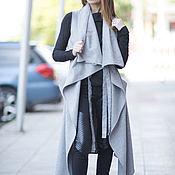 Одежда handmade. Livemaster - original item Grey cashmere coat sleeveless. Handmade.