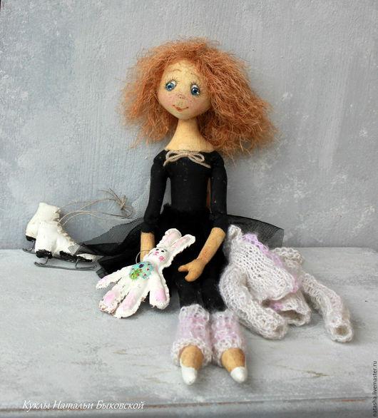 Коллекционные куклы ручной работы. Ярмарка Мастеров - ручная работа. Купить Кукла Фигуристка. Handmade. Фигуристка, текстильные краски