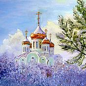 Картины и панно ручной работы. Ярмарка Мастеров - ручная работа Рождественская. Handmade.