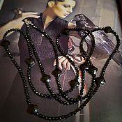 Работы для детей, handmade. Livemaster - original item Evening beads of spinel and onyx Magic of the night.. Handmade.