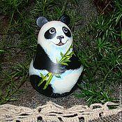 Куклы и игрушки handmade. Livemaster - original item Panda roly-poly - music. Handmade.