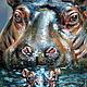 """Животные ручной работы. Картина пастелью """"Защищенность"""" Резерв. Римма (miracles). Интернет-магазин Ярмарка Мастеров. Картина пастелью, пастель"""