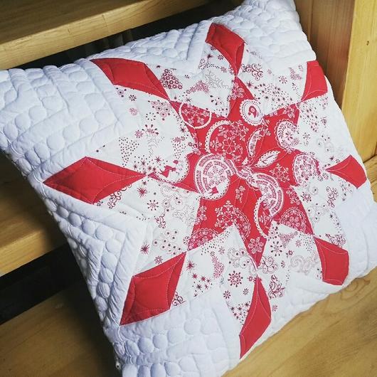 """Текстиль, ковры ручной работы. Ярмарка Мастеров - ручная работа. Купить Подушка """"Звезда"""". Пэчворк. Стежка. Handmade. Подушка, подарок"""