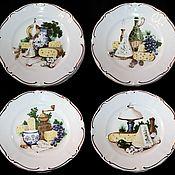 Винтаж handmade. Livemaster - original item Dessert plates
