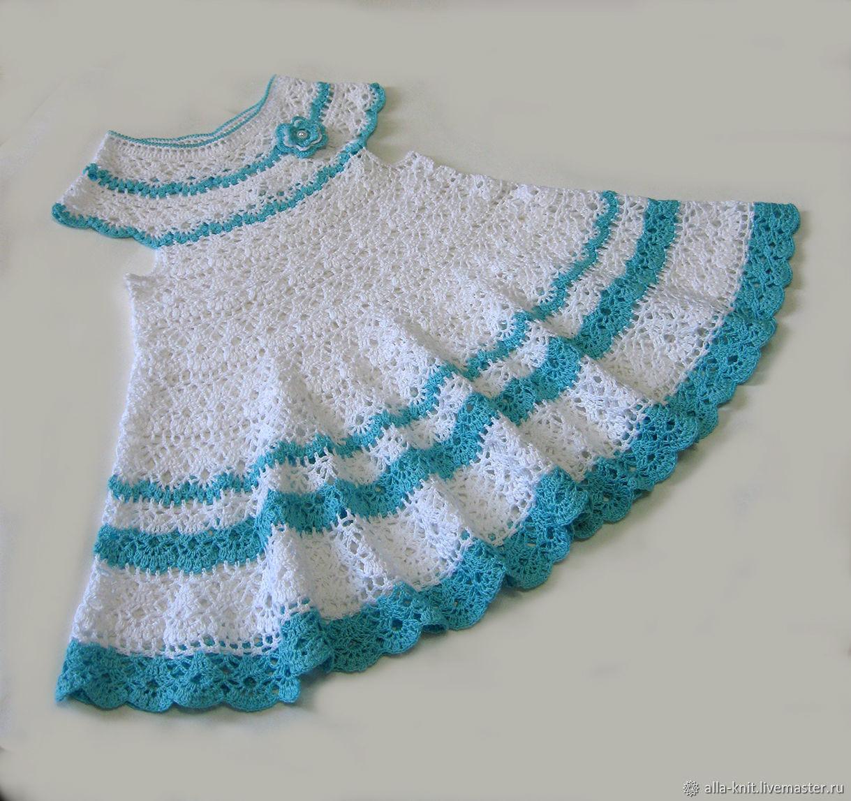 Crocheted Girls Dress Baby Dress Knit Dressy P Shop Online On