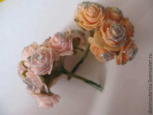 Материалы для флористики ручной работы. Ярмарка Мастеров - ручная работа. Купить Букет цветов из фоамирана (латекса). Handmade. Бежевый