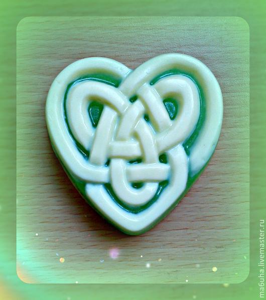 Мыло ручной работы. Ярмарка Мастеров - ручная работа. Купить Кельтское сердце. Handmade. Разноцветный, мыло в подарок