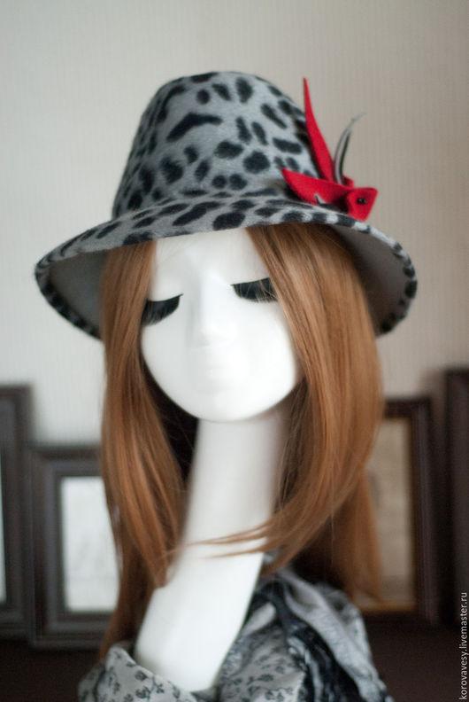 """Шляпы ручной работы. Ярмарка Мастеров - ручная работа. Купить """"Лео"""". Handmade. Серый, стильный аксессуар, москва"""