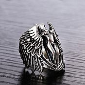 Украшения handmade. Livemaster - original item Ring Guardian Angel of silver of 925 unisex. Handmade.