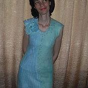 """Одежда ручной работы. Ярмарка Мастеров - ручная работа Туника из шерсти и шелка """"Бирюза"""". Handmade."""