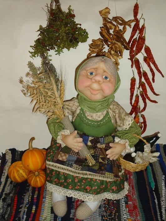 Человечки ручной работы. Ярмарка Мастеров - ручная работа. Купить Знахарка- травница.. Handmade. Зеленый, деревня, примитивная кукла