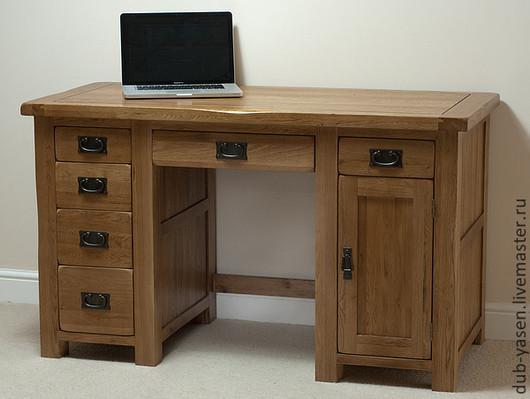 """Мебель ручной работы. Ярмарка Мастеров - ручная работа. Купить Офисный стол из дуба """"Шале"""". Handmade. Коричневый, рабочий стол"""
