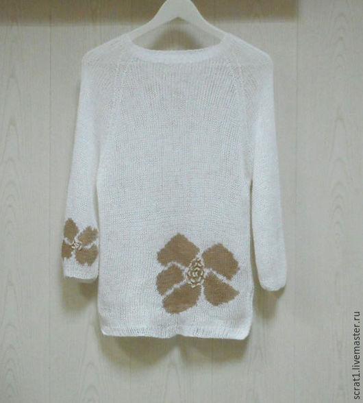Кофты и свитера ручной работы. Ярмарка Мастеров - ручная работа. Купить Вязаный джемпер  Монвизо, 100%  лен, Испания. Handmade.