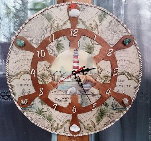 Часы для дома ручной работы. Ярмарка Мастеров - ручная работа. Купить Часы в морском стиле. Handmade. Часы в морском стиле