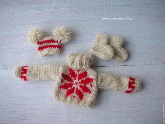 Одежда для кукол ручной работы. Ярмарка Мастеров - ручная работа. Купить Комплект вязаной одежды для куклы. Handmade. Одежда для кукол