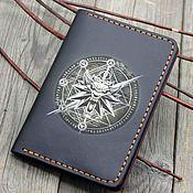 Сумки и аксессуары handmade. Livemaster - original item The passport cover is leather with a Witcher pattern. Handmade.