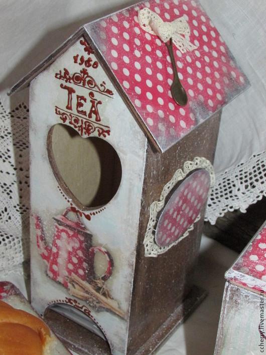 """Кухня ручной работы. Ярмарка Мастеров - ручная работа. Купить Чайный домик """" Сладостино"""". Handmade. Ярко-красный"""